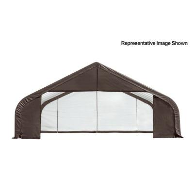 "Peak Style Storage Shelter, 2-3/8"" Frame, Gray Cover 30 x 28 x 16 ft. 86051"