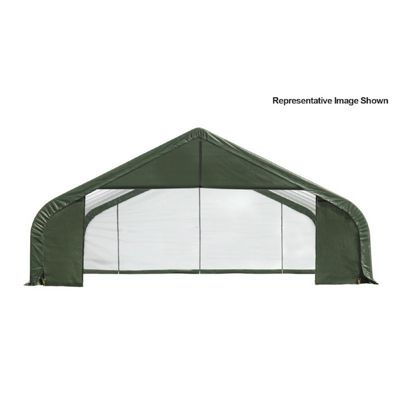 "Peak Style Storage Shelter, 2-3/8"" Frame, Green Cover 30 x 20 x 20 ft. 86063"