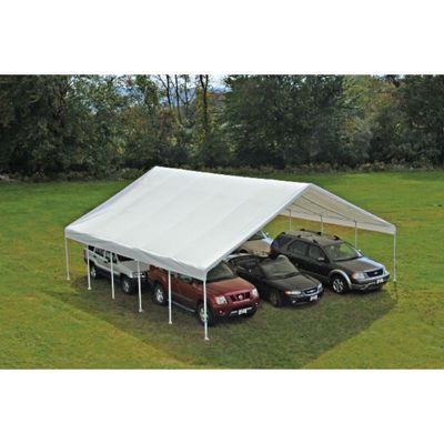 Replacement cover 18x40 canopy 2 frame white fr rated for 18x40 frame