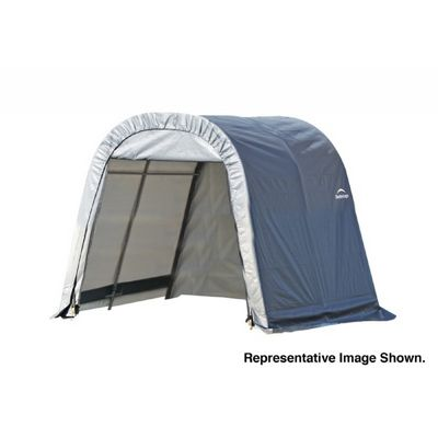 "Round Style Storage Shelter, 1-5/8"" Frame, Gray Cover 11 × 12 × 10 ft. 77820"