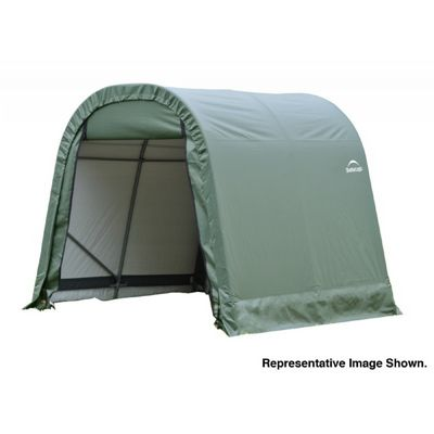 "Round Style Storage Shelter, 1-5/8"" Frame, Green Cover 11 x 12 x 10 ft. 77827"