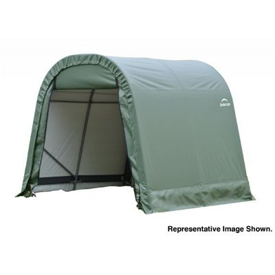 "Round Style Storage Shelter, 1-5/8"" Frame, Green Cover 11 × 16 × 10 ft. 77829"