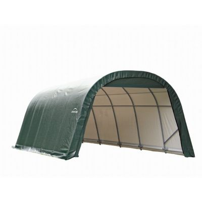 Round Style Storage Shelter 1 5 8 Quot Frame Green Cover 12