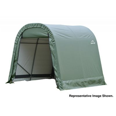 "Round Style Storage Shelter, 1-5/8"" Frame, Green Cover 8 x 16 x 8 ft. 76824"