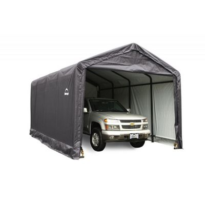 "ShelterTube Storage Shelter, 2"" 5-Rib Frame, Gray Cover 12 x 20 x 11 ft. 62805"