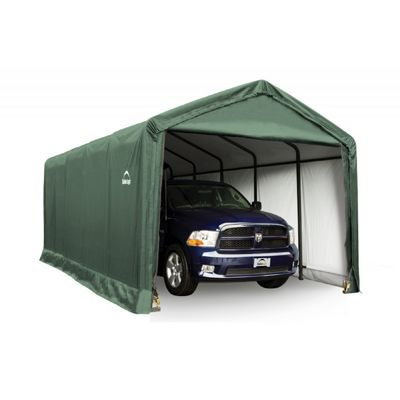 "ShelterTube Storage Shelter, 2"" 6-Rib Frame, Green Cover 12 x 25 x 11 ft. 62810"