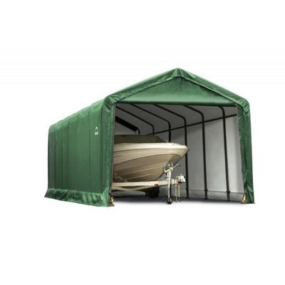 "ShelterTube Storage Shelter, 2"" 7-Rib Frame, Green Cover 12 x 30 x 11 ft. 62811"