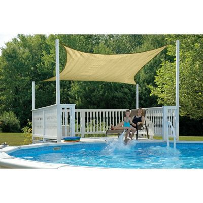 Square Shade Sail - Sand 230 gsm 16 ft. 25723