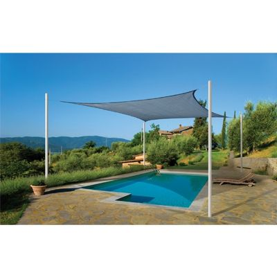 Square Shade Sail - Sea Blue 230 gsm 16 ft. 25736