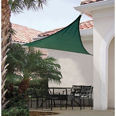 Triangle Shade Sail   Evergreen 230 Gsm 16 Ft.