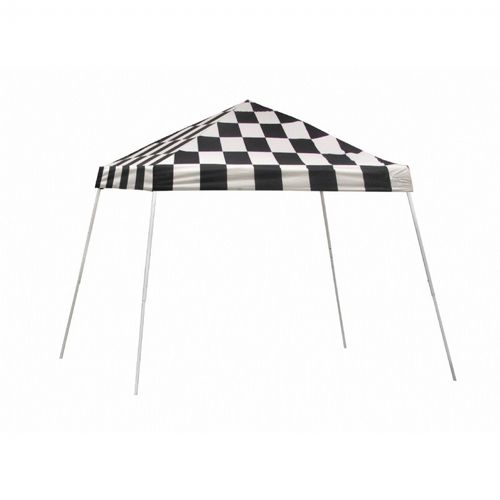 10x10 SL Pop-up Canopy, Checkered Flag Cover, Black Roller Bag 22776