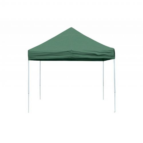 10 × 10 ST Pop-up Canopy, Green Cover, Black Roller Bag 22563
