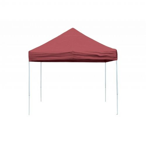 10x10 ST Pop-up Canopy, Red Cover, Black Roller Bag 22561