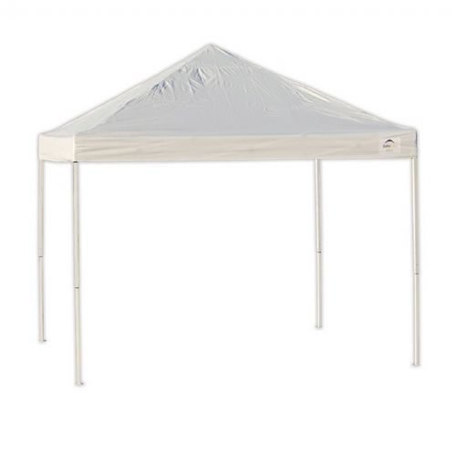 10x10 ST Pop-up Canopy, White Cover, Black Roller Bag 22586