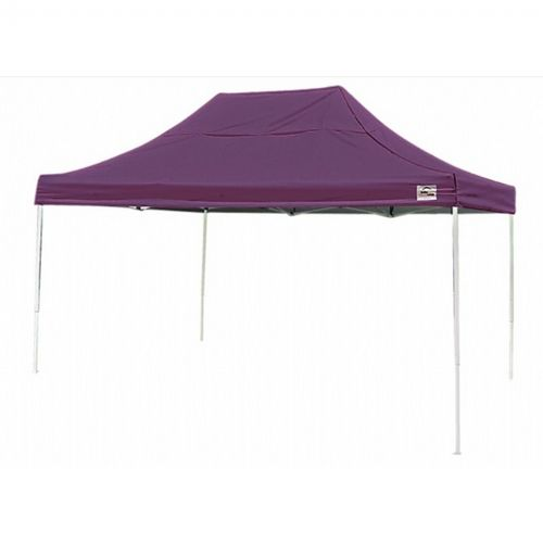 10 × 15 ST Pop-up Canopy, Purple Cover, Black Roller Bag 22704