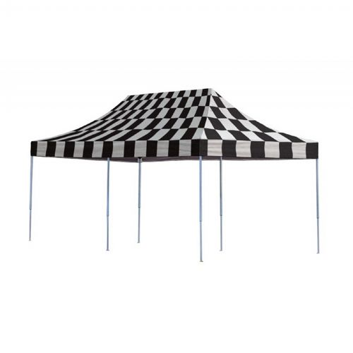 10x20 ST Pop-up Canopy, Checkered Flag Cover, Black Roller Bag 22533
