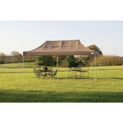 10 × 20 ST Pop-up Canopy, Desert Bronze Cover, Black Roller Bag 22583