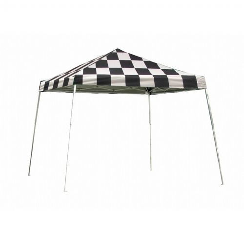 12x12 SL Pop-up Canopy, Checkered Flag Cover, Black Roller Bag 22549
