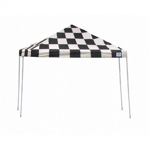 12x12 ST Pop-up Canopy, Checkered Flag Cover, Black Roller Bag 22543