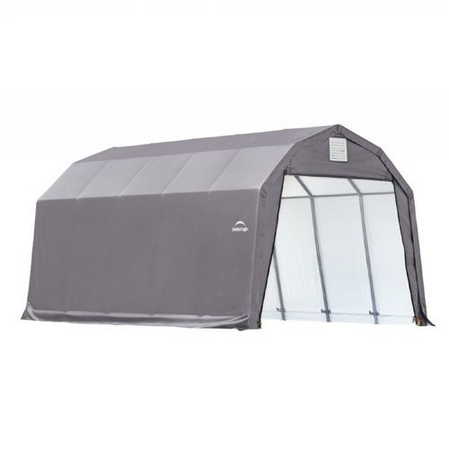 "Barn Style Storage Shelter, 2"" Frame, Gray Cover 12 × 20 × 11 ft. 90053"