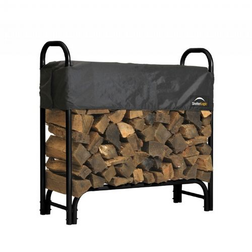 Heavy Duty Firewood Rack w/Cover 4 ft. 90401