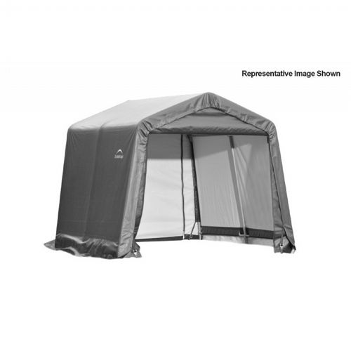 "Peak Style Storage Shelter, 1-5/8"" Frame, Gray Cover 10 × 8 × 8 ft. 72803"