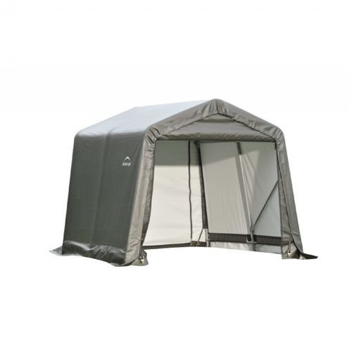 "Peak Style Storage Shelter, 1-5/8"" Frame, Gray Cover 8 × 8 × 8 ft. 71802"