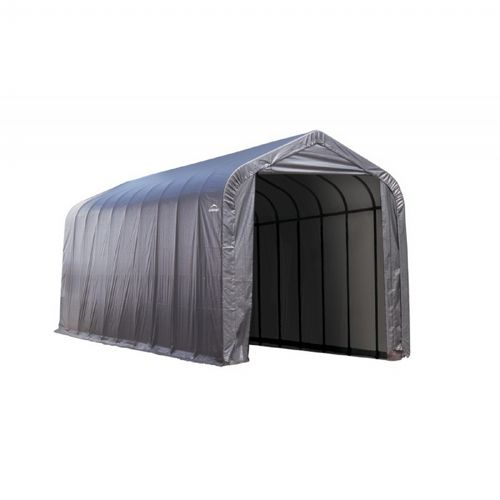 "Peak Style Storage Shelter, 2-3/8"" Frame, Gray Cover 15 × 40 × 16 ft. 95843"