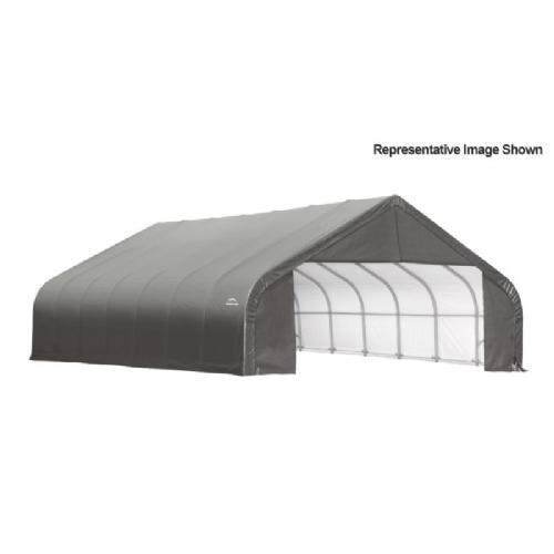 "Peak Style Storage Shelter, 2-3/8"" Frame, Gray Cover 30 × 28 × 20 ft. 86070"