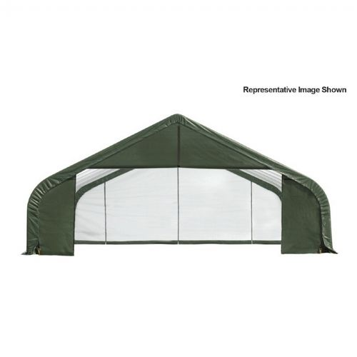 "Peak Style Storage Shelter, 2-3/8"" Frame, Green Cover 30 × 20 × 20 ft. 86063"