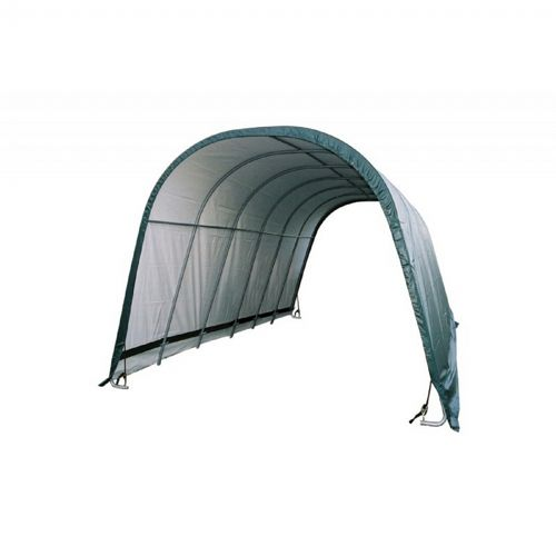 Round Style Run-In Shelter, Green Cover 12x24x10 51451