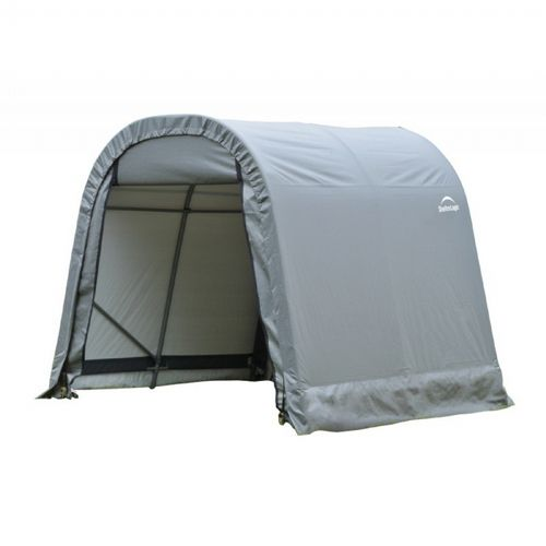 "Round Style Storage Shelter, 1-5/8"" Frame, Gray Cover 8 × 8 × 8 ft. 76803"
