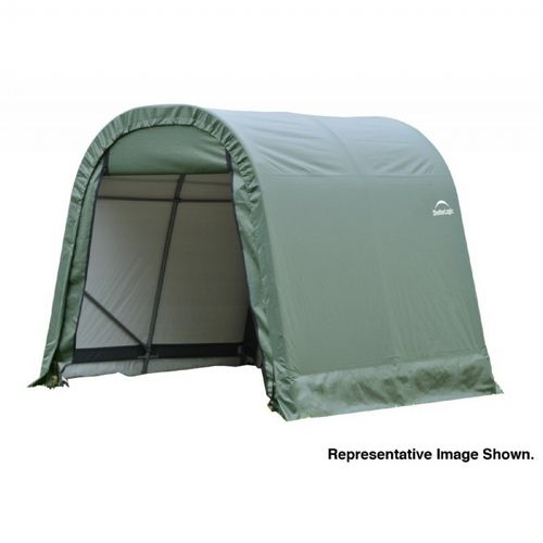 "Round Style Storage Shelter, 1-5/8"" Frame, Green Cover 11 × 12 × 10 ft. 77827"