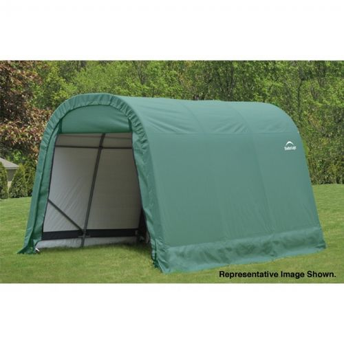 "Round Style Storage Shelter, 1-5/8"" Frame, Green Cover 8 × 12 × 8 ft. 76814"