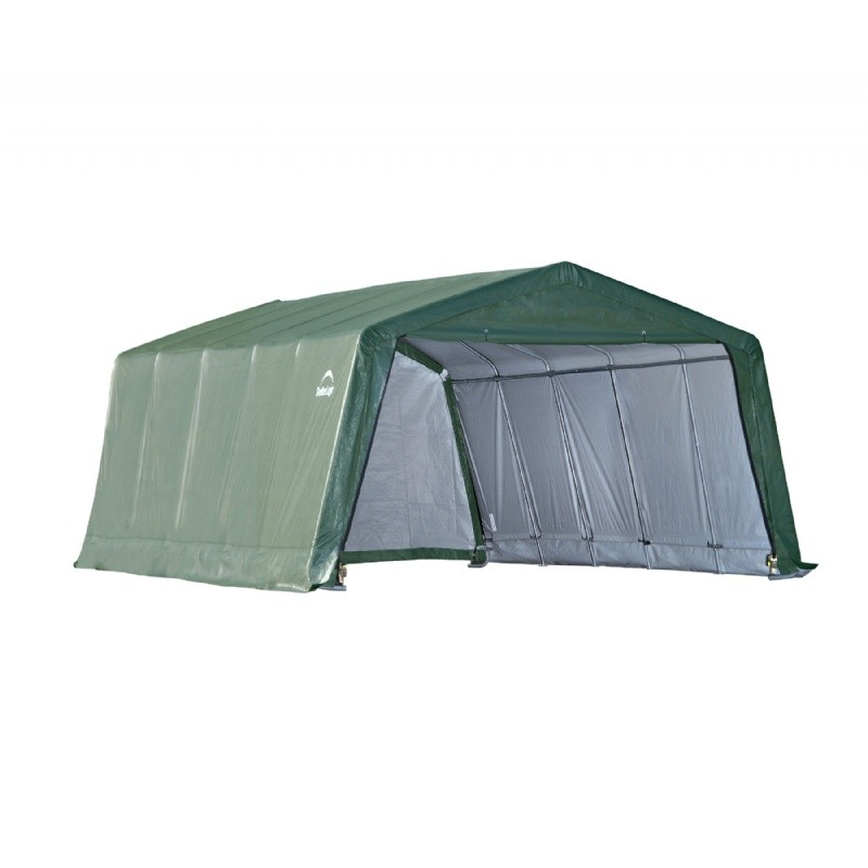 Hay Storage Shelters : Peak style hay storage shelter green cover