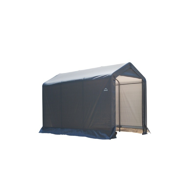 "Peak Style Storage Shed, 1-3/8"" Frame, Gray Cover 6 × 10 × 6'6"""