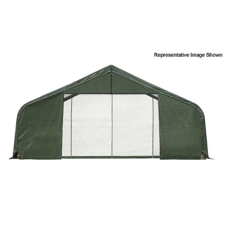 Storage Shelter Frame : Peak style storage shelter quot frame green cover