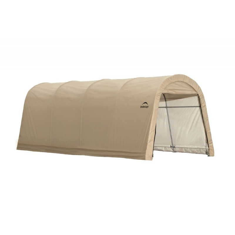 "Round Style Auto Shelter, 1-3/8"" / 3,5 cm 5-Rib Frame, Sandstone Cover 10x20x8 ft. / 3x6,1x2,4 m"
