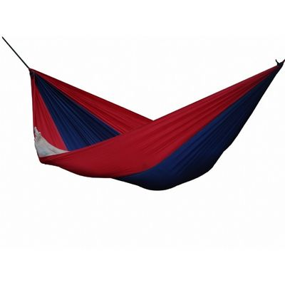 Parachute Nylon Hammock - Single (Navy/Red) PAR15