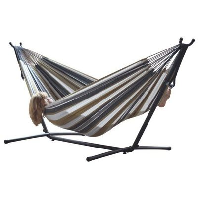 Vivere's Combo - Double Desert Moon Hammock with Stand (9ft) UHSDO9-25