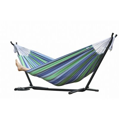 Vivere's Combo Double Oasis Hammock with Stand (9ft) UHSDO9-24