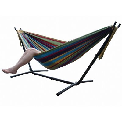 Vivere's Combo - Double Tropical Hammock with Stand (9ft) UHSDO9-20