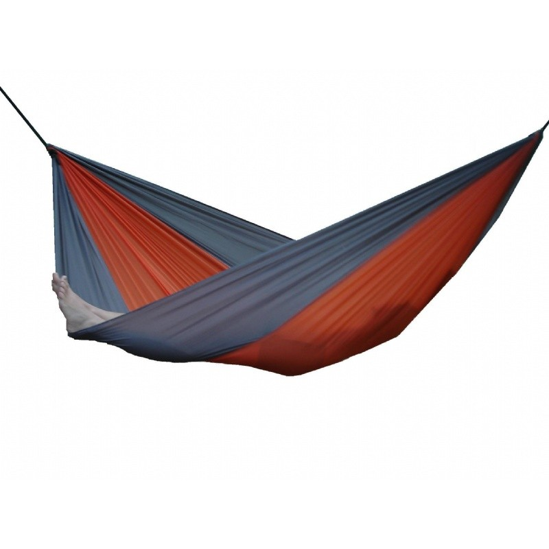 Parachute Nylon Hammock - Double (Gray/Orange)