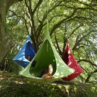Cacoon Double Hanging Nest Chair Green CAC-DG