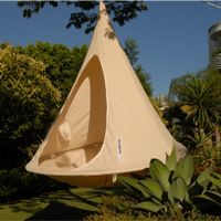 Cacoon Double Hanging Nest Chair Natural White CAC-DW