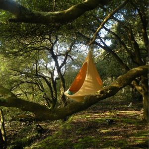 Cacoon Single Hanging Nest Chair Green CAC-SG