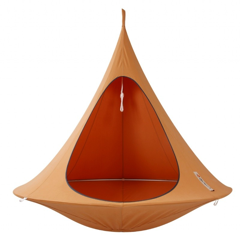 Cacoon Double Hanging Nest Chair Orange Mango