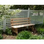 Cedar 5' Backed Bench Natural WRFBB5-2CVD