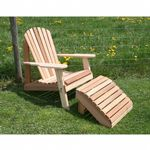 Cedar American Forest Adirondack Chair & Footrest Set Natural WRF526200CVD