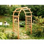 "Cedar Arched Arbor Natural - 72"" Opening EY72ARCVD"